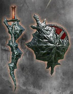 Black Flamestone Dagger and Shield