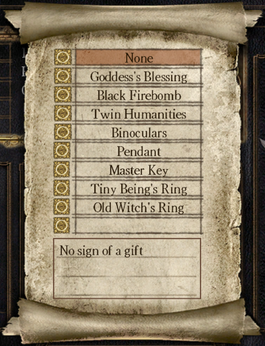 Starting gifts dark souls wiki fandom powered by wikia starting gifts 01 aloadofball Choice Image