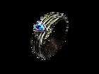 Кольцо с синим слезным камнем
