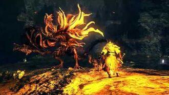 Dark Souls 1 Gwyn vs Manus - Ai vs Ai Battle Colosseum Arena