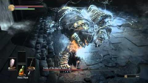 DARK SOULS III Vordt of the Boreal Valley boss fight