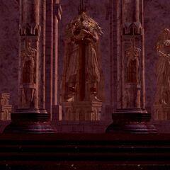 Posąg Gwyna i Gwynevere w Anor Londo