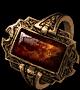 Пламенное кольцо с камнем