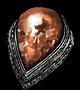 Кольцо с красным камнем