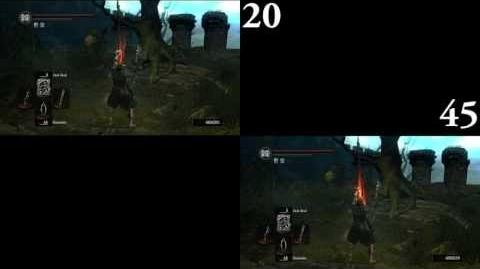 Dark Souls Dark Bead 20 DEX vs 45 DEX