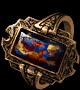 Пестрое кольцо с камнем