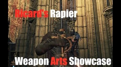 Dark Souls 3 Ricard's Rapier - Weapon Arts Showcase