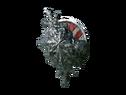 Круглый щит с черным камнем