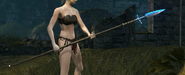 Winged spear in game