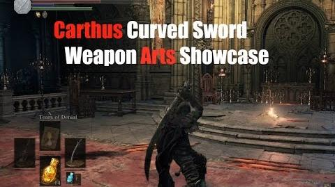 Weapon Arts Showcase Carthus Curved Sword