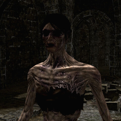 A female Hollowed Chosen Undead