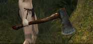 Hand axe in game