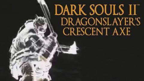 Dark Souls 2 Dragonslayer's Crescent Axe Tutorial (dual wielding w power stance)