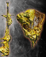 Yellow Quartz Long Sword and Shield