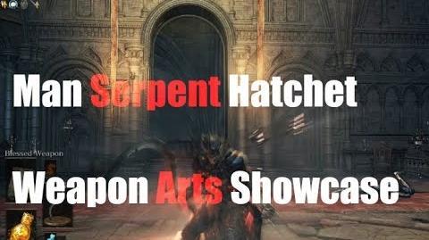 Dark Souls 3 Man Serpent Hatchet - Weapon Arts Showcase