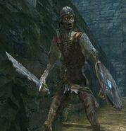 Armored zombie swordsman