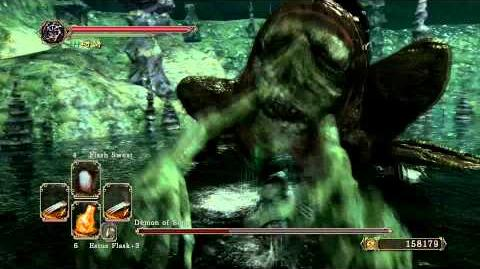 Dark Souls 2 - Demon of Song (Melee) Power Stance (Lightning Claws)