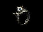 Кольцо серебряной кошки