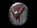 Алый круглый щит