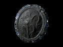 Круглый каменный щит