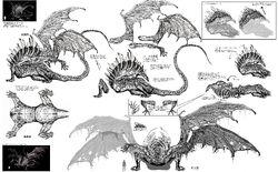 Gaping Dragon Concept Art