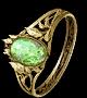Кольцо с короной заката