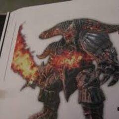 Demon kuźni w artbooku