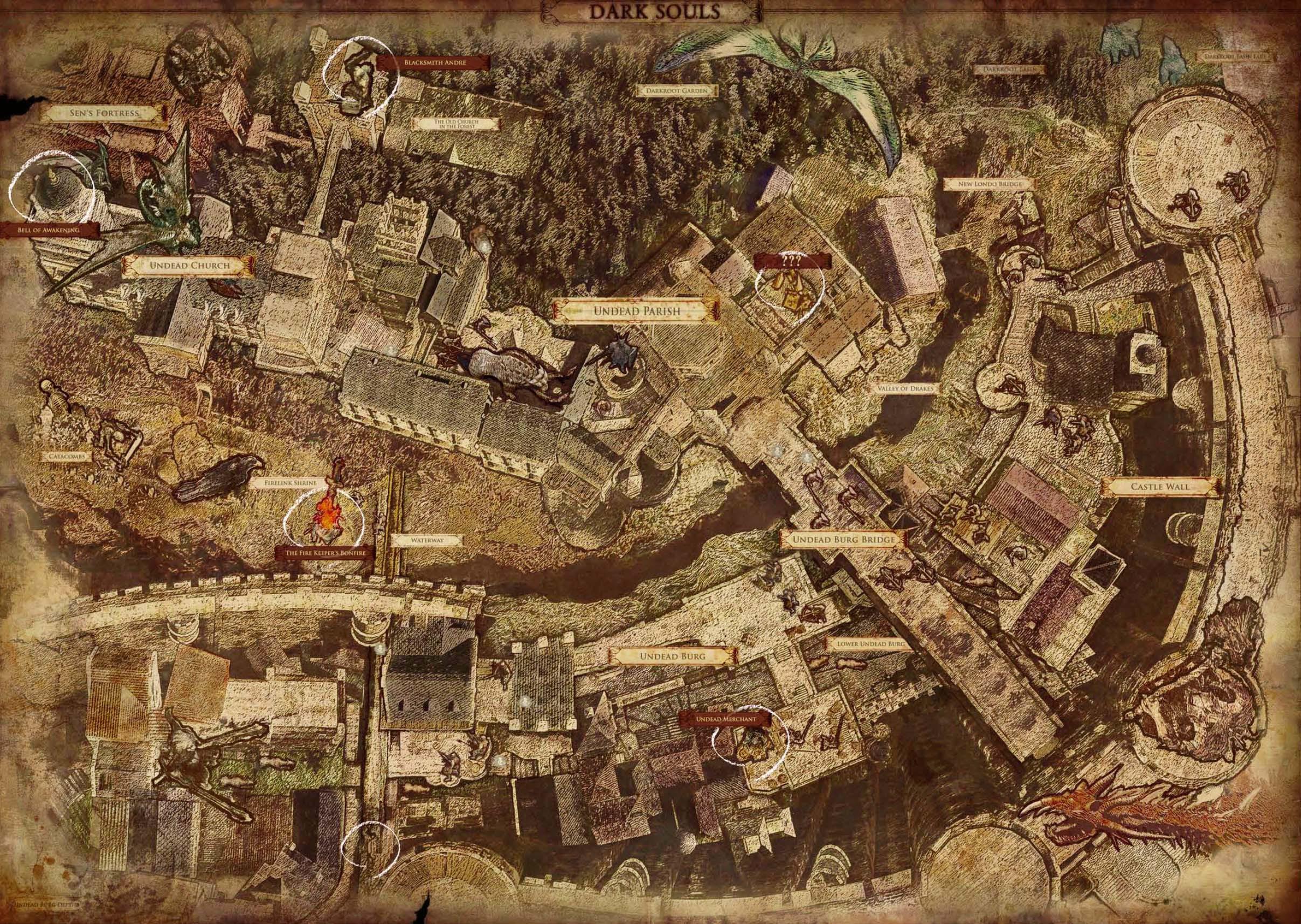 Dark Souls World Map World | Dark Souls Wiki | FANDOM powered by Wikia Dark Souls World Map