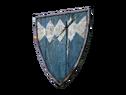 Синий деревянный щит