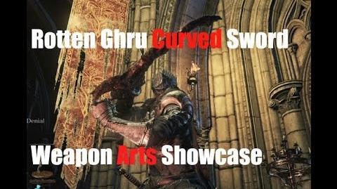 Dark Souls 3 Rotten Ghru Curved Sword - Weapon Arts Showcase