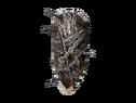 Деревянный щит в цепях