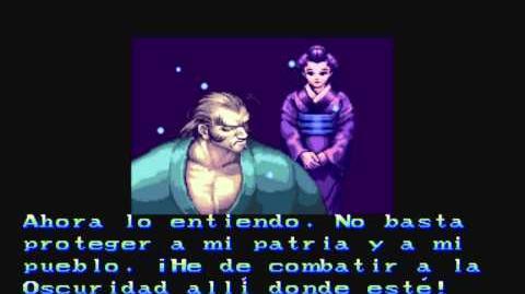 Darkstalkers The Night Warriors - Bishamon Ending Español