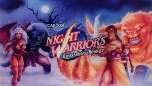 Night Warriors Darkstalkers Revenge arcade western poster