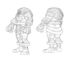 Night Warriors Anime Anakaris sketch