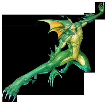 File:Darkstalkers Resurrection Rikuo infobox.png