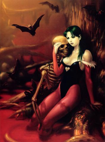 Archivo:Darkstalkers 3 Morrigan Cover Art.png
