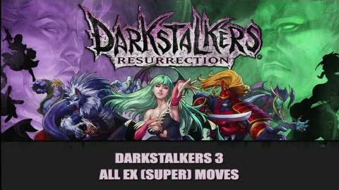 DSR Darkstalkers 3 All EX (Super) Moves