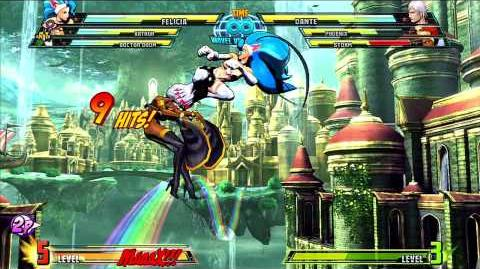 Marvel vs Capcom 3 Felicia Gameplay Montage
