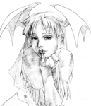 Morrigan Vampire Savior Win sketch