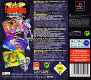 Darkstalkers The Night Warriors EUR back