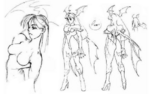 Morrigan concept sketches