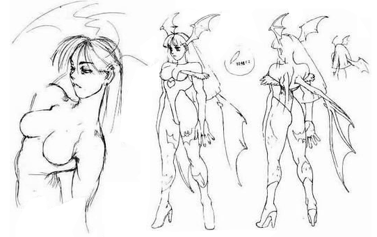 Archivo:Morrigan concept sketches.png