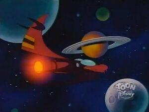 When Aliens Collide - Darkwing's spaceship
