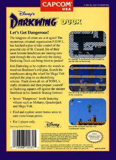 Darkwing Duck (NES) Back (U)