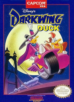 Darkwing Duck Video Game NES Cover