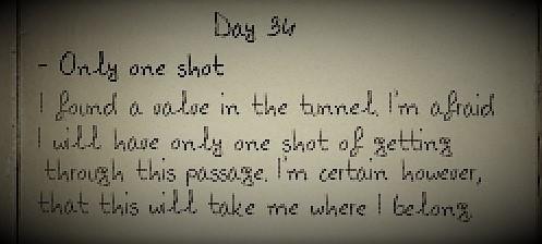 Ony one shot
