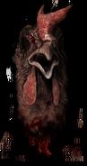 Chicken head detail