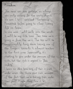 Torn page from a journal -1
