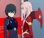 Hiro and Zero Two