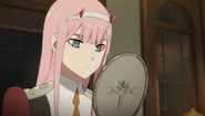 Ep9 zero two first present